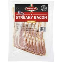 D'orsogna Bacon Streaky 200g