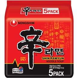 Nong Shim Shin Ramyun 5 pack