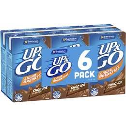Sanitarium Up&go Liquid Breakfast Choc Ice 6 pack