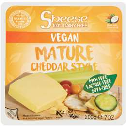Sheese Mature Cheddar Vegan Cheese Block 200g
