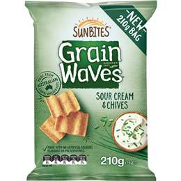 Sunbites Grain Waves Sour Cream & Chives 210g