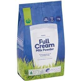 Woolworths Full Cream Milk Powder 1kg