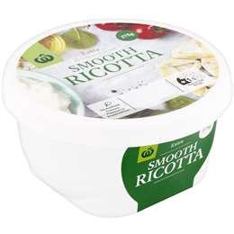 Woolworths Ricotta Cheese 375g