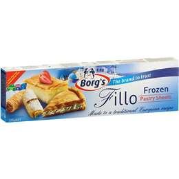 Borg's Frozen Fillo Pastry Sheets 375g