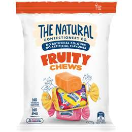 The Natural Confectionery Co. Fruity Chews Lollies 220g