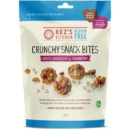 Kez's Gluten Free Crunchy Bites White Chocolate & Cranberry 100g