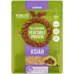 Macro Flavoured Textured Vegetable Protein Asian 100g