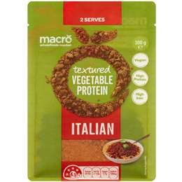 Macro Flavoured Textured Vegetable Protein Italian 100g