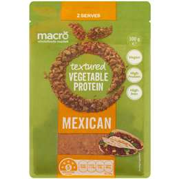 Macro Flavoured Textured Vegetable Protein Mexican 100g