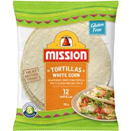 Mission White Corn Tortillas 12 pack