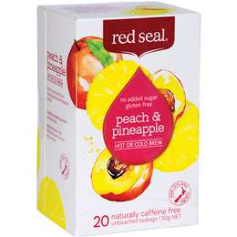 Red Seal Peach & Pineapple Hot Or Cold Brew Tea 20 pack