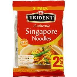 Trident Singapore Noodles 2pk 2x175g