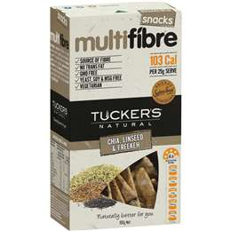Tuckers Multifibre Crackers Chia Linseed Freekeh 100g