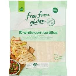 Woolworths Free From Gluten Ingredients Tortilla Corn 280g