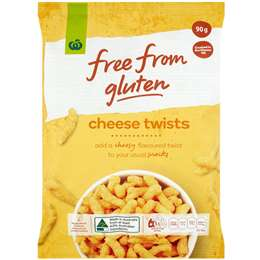 Woolworths Free From Gluten Share Pack Cheese Twists 90g