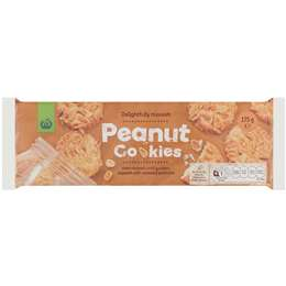 Woolworths Peanut Cookies 175g