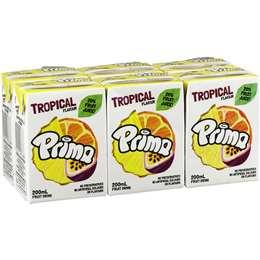 Prima Tropical Fruit Drink 6x200ml
