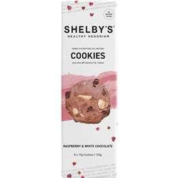 Shelby's Raspberry White Chocolate Cookies 120g